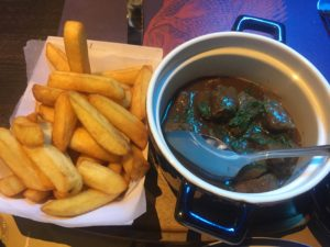 Flemish Stew. With non Belgian Fries